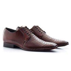Sapato Social Masculino Marrom - BI306M - Pé Relax Sapatos Confortáveis