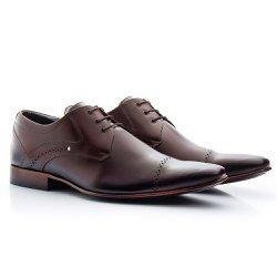 Sapato Derby Masculino Marrom - BI377M - Pé Relax Sapatos Confortáveis