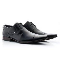 Sapato Derby Masculino Preto - BI377P - Pé Relax Sapatos Confortáveis