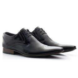 Sapato Masculino Social Verniz Preto - BI379P - Pé Relax Sapatos Confortáveis