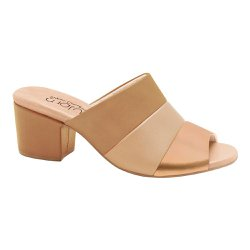 Tamanco Mule Feminino - Marrom / Bege / Rose Gold - MA176074MBD - Pé Relax Sapatos Confortáveis