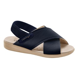Sandália Feminina Ortopédica - Azul - MA14031AM - Pé Relax Sapatos Confortáveis