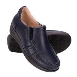 Sapato Feminino Fechado - Azul Marinho - FB8001AM - Pé Relax Sapatos Confortáveis