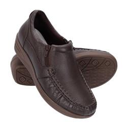 Sapato Feminino Fechado - Marrom - FB8001M - Pé Relax Sapatos Confortáveis