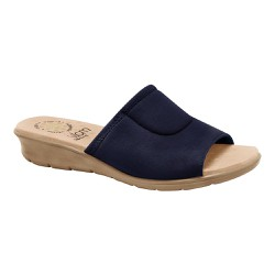 Tamanco Confort para Joanete Feminino - Azul - MA10061A - Pé Relax Sapatos Confortáveis
