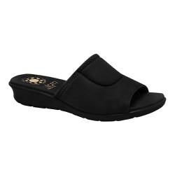 Tamanco para Joanete Feminino - Preto Sola Preta - MA10061P - Pé Relax Sapatos Confortáveis