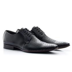 Sapato Social Masculino Preto - BI306P - Pé Relax Sapatos Confortáveis
