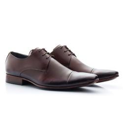 Sapato Masculino Couro Marrom - BI307M - Pé Relax Sapatos Confortáveis