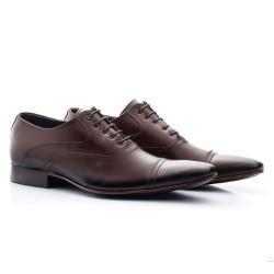 Sapato Oxford Masculino Marrom - BI341M - Pé Relax Sapatos Confortáveis