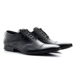 Sapato Oxford Masculino Preto - BI341P - Pé Relax Sapatos Confortáveis