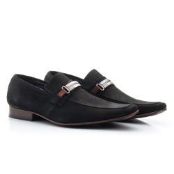 Sapato Masculino Casual Nobuck Preto - BI442P - Pé Relax Sapatos Confortáveis