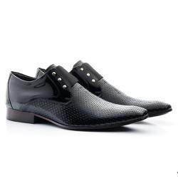 Sapato Masculino Envernizado Preto - BI517P - Pé Relax Sapatos Confortáveis