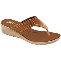 Chinelo para Esporão e Fascite - Caramelo - MA10007CAR - Pé Relax Sapatos Confortáveis