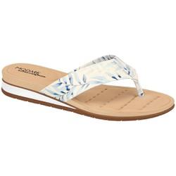 Chinelo Esporão e Fascite - Branco / Marinho - MO7113BM - Pé Relax Sapatos Confortáveis