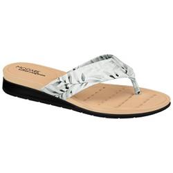 Chinelo Esporão e Fascite - Branco / Preto - MO7113BP - Pé Relax Sapatos Confortáveis