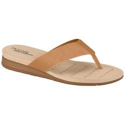 Chinelo Anatômico Feminino - Bege - MO7113200BG - Pé Relax Sapatos Confortáveis