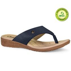 Chinelo Anatômico Feminino - Marinho - CAL6812MA - Pé Relax Sapatos Confortáveis