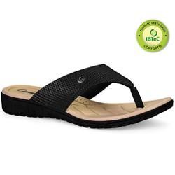 Chinelo Anatômico Feminino - Preto - CAL6812PT - Pé Relax Sapatos Confortáveis
