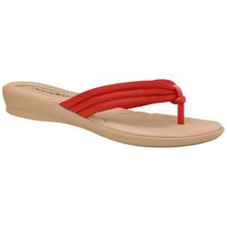 Chinelo para Esporão e Fascite - Vermelho - PI500220VM - Pé Relax Sapatos Confortáveis