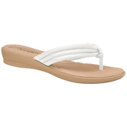 Chinelo para Esporão e Fascite - Branco - PI500220BR - Pé Relax Sapatos Confortáveis
