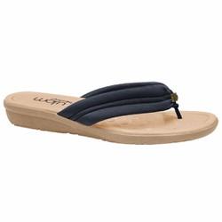 Chinelo Confort Feminino - New Pu Marinho - MA200110AZ - Pé Relax Sapatos Confortáveis