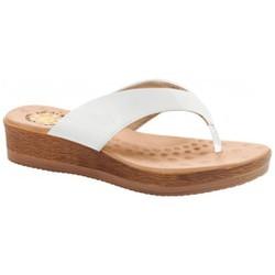 Chinelo Anatômico Feminino - Soft Op Write / Branco - MA537008PB - Pé Relax Sapatos Confortáveis