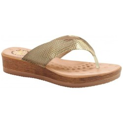 Chinelo Anatômico Feminino - Cobra Metal Gold - MA537008PG - Pé Relax Sapatos Confortáveis
