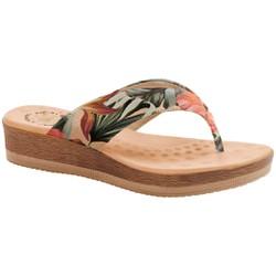 Chinelo Anatômico Feminino - Floral Acqua - MA537008PA - Pé Relax Sapatos Confortáveis