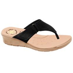 Chinelo Confort Feminino - Preto Sola Areia - MA10007NP - Pé Relax Sapatos Confortáveis