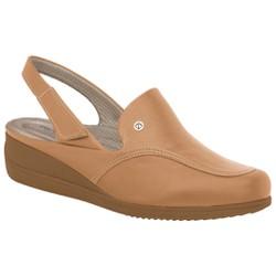 Babuche com Velcro Fascite e Joanete - Bege - PI117060BG - Pé Relax Sapatos Confortáveis