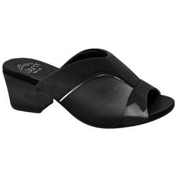 Mule para Joanete - Preto New Indiana - MA176084PV - Pé Relax Sapatos Confortáveis