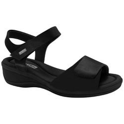 Sandália Ajuste em Velcro - Preto - CF2088303PT - Pé Relax Sapatos Confortáveis
