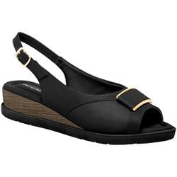 Sandália Esporão e Fascite - Preta - PI458002PT - Pé Relax Sapatos Confortáveis