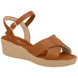 Sandália Feminina para Esporão - Ocre - PI565011OC - Pé Relax Sapatos Confortáveis