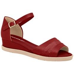 Sandália Anabela Confortável - Rubi - PI458004RB - Pé Relax Sapatos Confortáveis