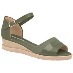 Sandália Anabela Confortável - Oliva - PI458004OL - Pé Relax Sapatos Confortáveis