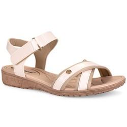 Sandália Comforto - Cacharel Perola - CAL6816CC - Pé Relax Sapatos Confortáveis