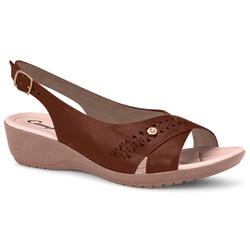 Sandália Esporão e Fascite com Fivela - Brown - CAL7085BR - Pé Relax Sapatos Confortáveis