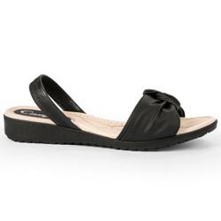 Sandália Ortopédica Feminina - Preta - CAL7272PT - Pé Relax Sapatos Confortáveis