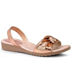 Sandália Ortopédica Feminina - Metal Rose - CAL7272MR - Pé Relax Sapatos Confortáveis