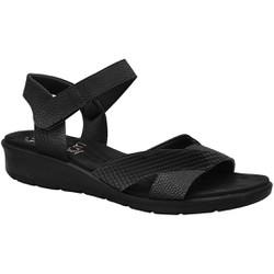 Sandália Anatômica Feminina - Preta - MA10088P - Pé Relax Sapatos Confortáveis