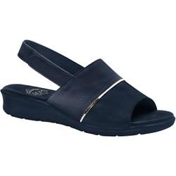 Sandália com Velcro para Esporão, Fascite e Joanete - Navy - MA10095AZ - Pé Relax Sapatos Confortáveis