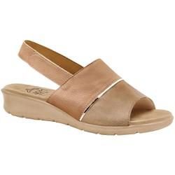 Sandália com Velcro para Esporão, Fascite e Joanete - Antique - MA10095AT - Pé Relax Sapatos Confortáveis