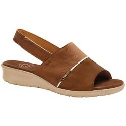 Sandália com Velcro para Esporão, Fascite e Joanete - Caramelo - MA10095CA - Pé Relax Sapatos Confortáveis
