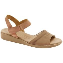 Sandália Feminina Anatômica - Lycra Choco - MA14018LC - Pé Relax Sapatos Confortáveis