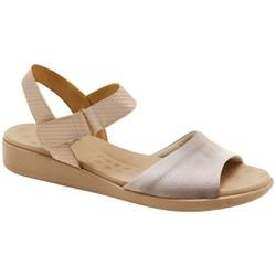 Sandália Feminina Anatômica - Lycra Ivory - MA14018LI - Pé Relax Sapatos Confortáveis