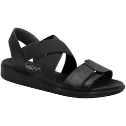 Sandália para Esporão e Fascite Anatômica - Preta - MA14022PT - Pé Relax Sapatos Confortáveis