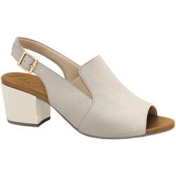 Sandália Ankle Boot Confortável - Off White - MA176099FOW - Pé Relax Sapatos Confortáveis