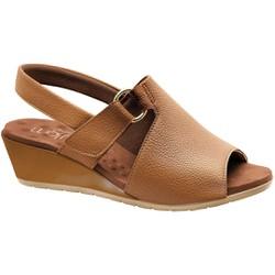 Sandália Comfort - Caramelo - MA206051CA - Pé Relax Sapatos Confortáveis