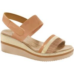 Sandália Anabela Super Comfort - Antique - MA581037AN - Pé Relax Sapatos Confortáveis